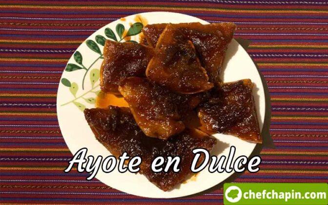 Ayote en dulce guatemalteco