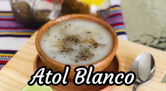 Receta de Atol Blanco Guatemalteco
